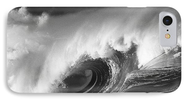 Big Breaking Wave - Bw IPhone Case by Vince Cavataio - Printscapes