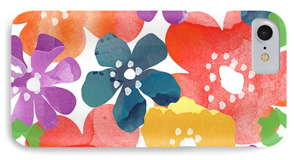 Big Bright Flowers IPhone 7 Case by Linda Woods