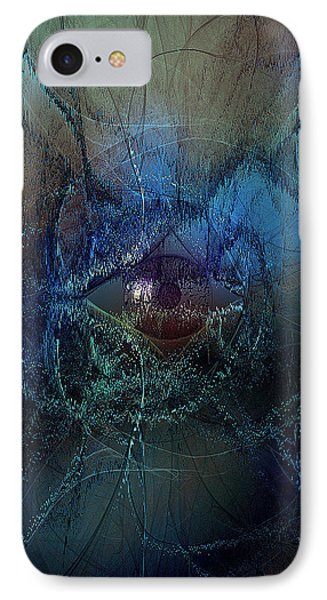 Big Brother Watches From The Strangest Places - Blue2 IPhone Case by Andy Young