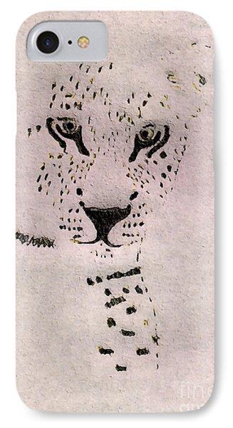 Big Cat IPhone Case by Barbara Moignard