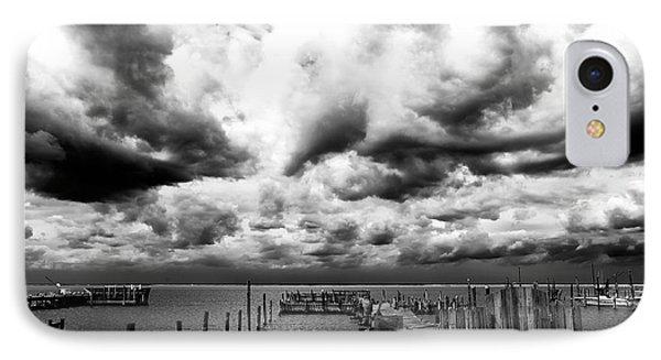 Big Clouds Little Dock Phone Case by John Rizzuto