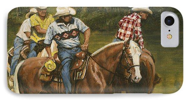 Big Creek - 4 Riders IPhone Case by Don  Langeneckert