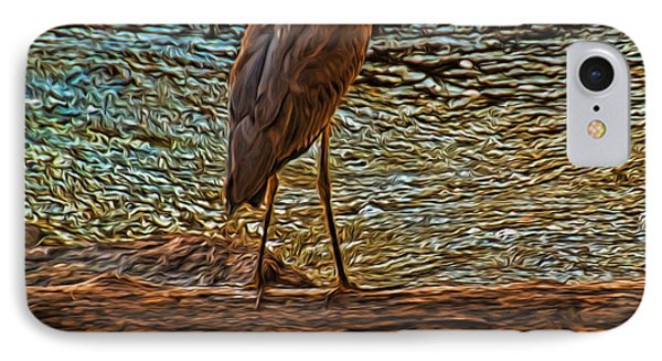 Big Falls Blue Heron IPhone Case