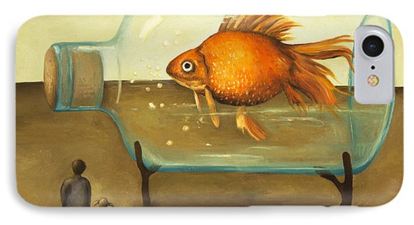 Big Fish Phone Case by Leah Saulnier The Painting Maniac