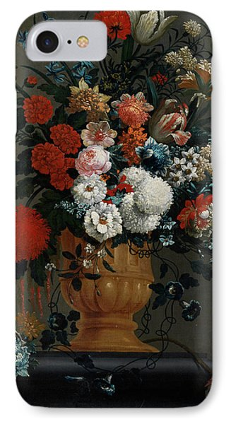 Big Flowers Still Life With Red Parrot IPhone Case by Peter Casteels the Younger