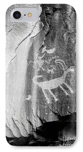 Big Horn Sheep Petroglyph 2 - Nine Mile Canyon - Utah IPhone Case by Gary Whitton