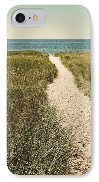 IPhone Case featuring the photograph Big Lake Beach Path by Michelle Calkins