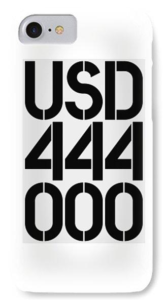 Big Money Usd 444 000 IPhone Case by Three Dots