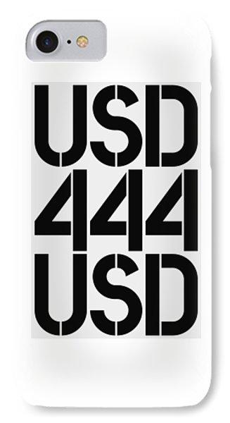 Big Money Usd 444 IPhone Case by Three Dots
