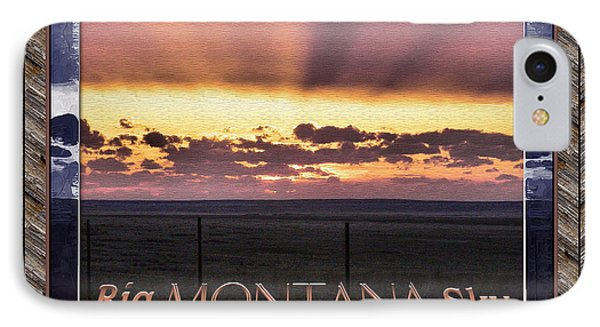 IPhone Case featuring the photograph Big Montana Sky by Susan Kinney