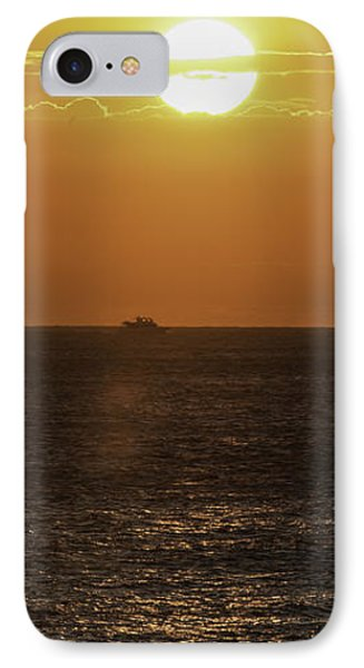 IPhone Case featuring the photograph Big Ocean Small Boat by Jim Moore