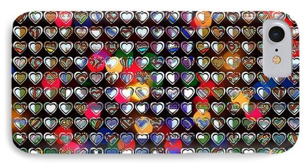 Big One Beautiful Hearts IPhone Case
