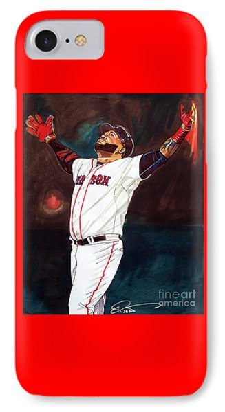 Big Papi David Ortiz IPhone Case by Dave Olsen
