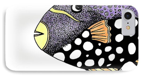 Big Purple Fish IPhone Case