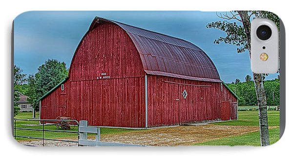 IPhone Case featuring the photograph Big Red Barn At Cross Village by Bill Gallagher