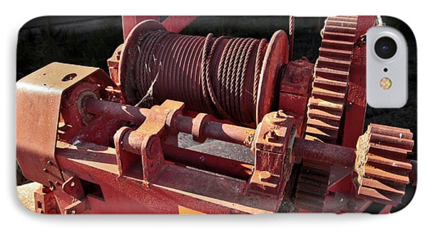 IPhone Case featuring the photograph Big Red Winch by Stephen Mitchell