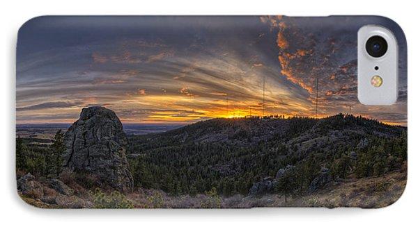 Mountain Sunset iPhone 7 Case - Big Rock Panorama by Mark Kiver