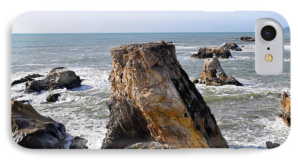 IPhone Case featuring the photograph Big Rocks In Grey Water by Barbara Snyder