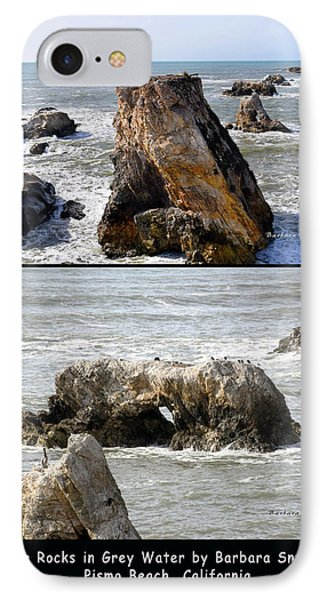 IPhone Case featuring the photograph Big Rocks In Grey Water Duo by Barbara Snyder