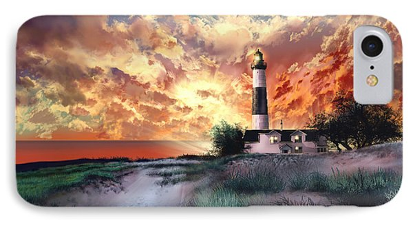 Big Sable Lighthouse IPhone Case