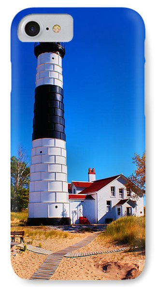 Big Sable Point Lighthouse IPhone Case by Nick Zelinsky