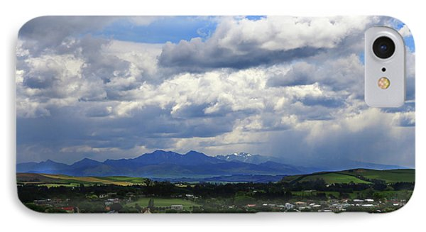 IPhone Case featuring the photograph Big Sky Over Oamaru Town by Nareeta Martin