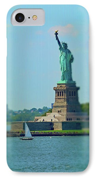 Big Statue, Little Boat IPhone Case by Sandy Taylor