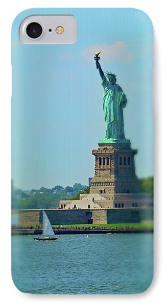 Big Statue, Little Boat IPhone Case