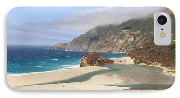 Big Sur Beach IPhone Case by Lou Ford