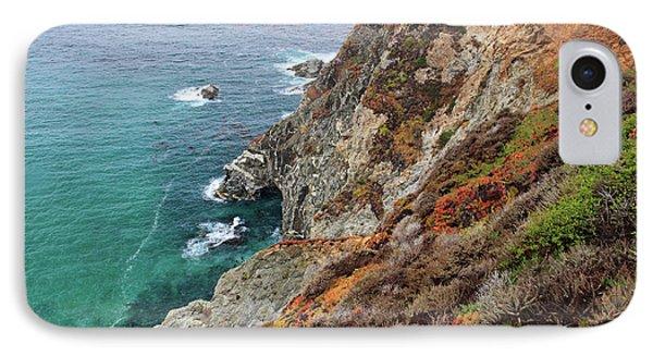 Big Sur Colorful Sea Cliffs Phone Case by Pierre Leclerc Photography