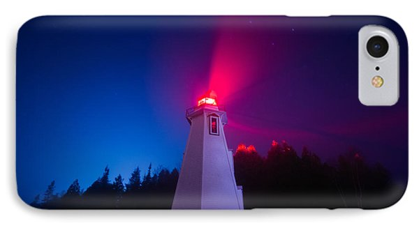Big Tub Lighthouse In The Fog  IPhone Case by Cale Best