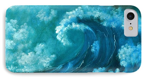 IPhone Case featuring the painting Big Wave by Anastasiya Malakhova
