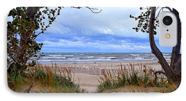 Big Waves On Lake Michigan 2.0 Phone Case by Michelle Calkins
