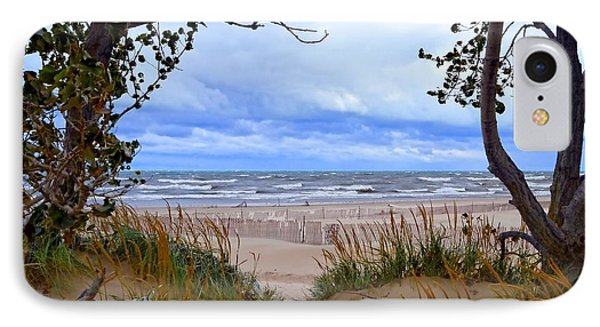 Big Waves On Lake Michigan 2.0 IPhone Case by Michelle Calkins