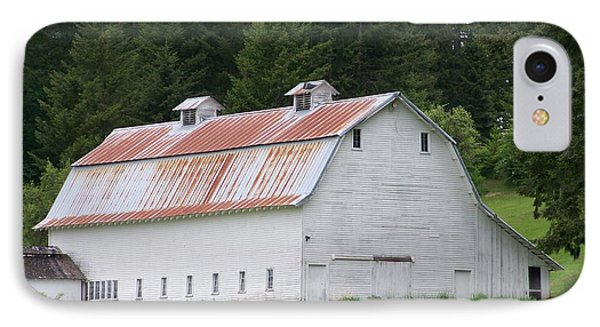 Big White Old Barn With Rusty Roof  Washington State Phone Case by Laurie Kidd