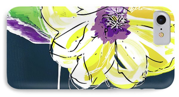 Big Yellow Flower- Art By Linda Woods IPhone Case by Linda Woods