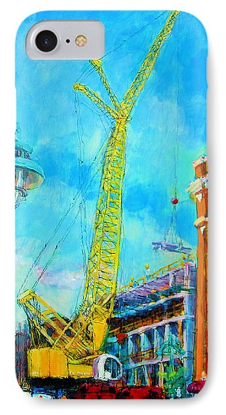 IPhone Case featuring the painting Big Yellow by Les Leffingwell