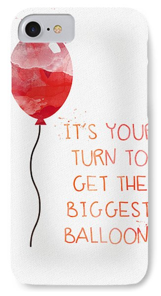 Biggest Balloon- Card IPhone Case by Linda Woods