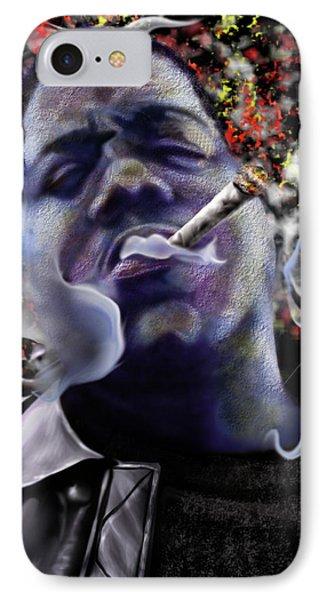 Biggie - Burning Lights 5 IPhone Case by Reggie Duffie