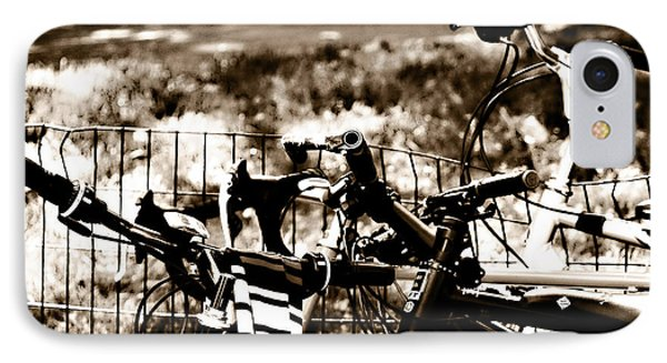 Bike Against The Fence Phone Case by Madeline Ellis