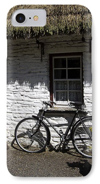 Bike At The Window County Clare Ireland Phone Case by Teresa Mucha