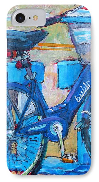 IPhone Case featuring the painting Bike Bubbler by Les Leffingwell