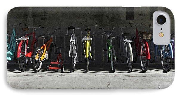 Sunlight iPhone 7 Case - Bike Rack by Cynthia Decker