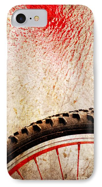 Bike Wheel Red Spray IPhone 7 Case