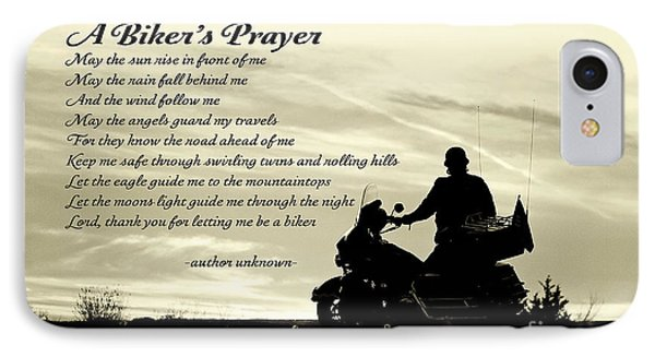 Biker's Prayer IPhone Case