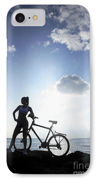 Biking Silhouette Phone Case by Brandon Tabiolo - Printscapes