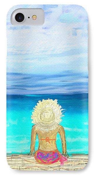 Bikini On The Pier IPhone Case by Jeremy Aiyadurai
