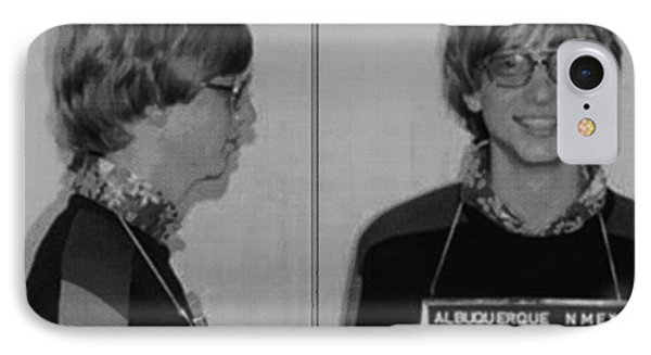 Bill Gates Mug Shot Horizontal Black And White IPhone Case by Tony Rubino