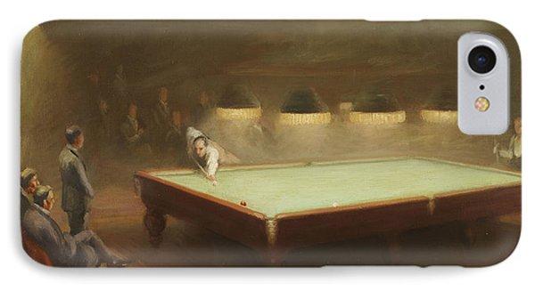 Billiard Match At Thurston Phone Case by English School