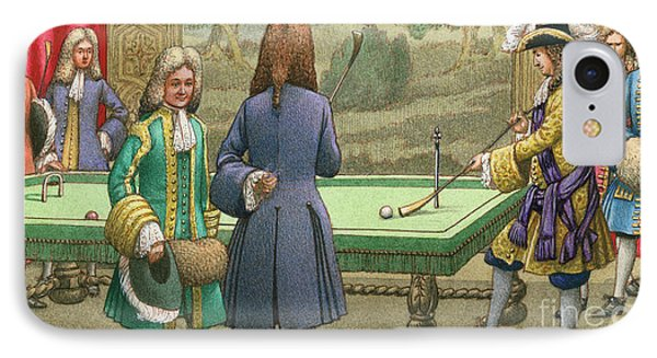 Billiards, As Played By Louis Xiv At Versailles IPhone Case by Pat Nicolle